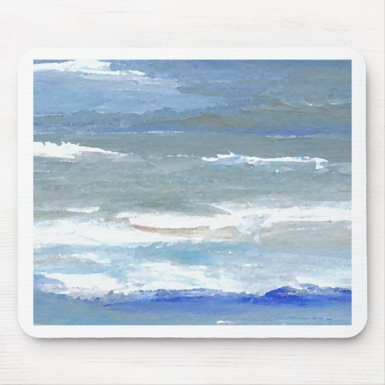 White Caps CricketDiane Ocean Waves Art Mouse Pad