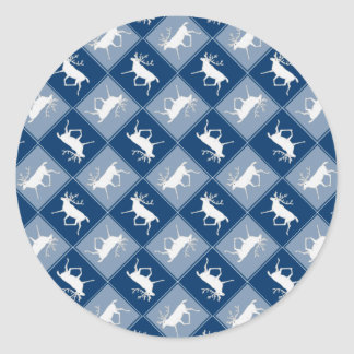 White Caribou Reindeer Christmas Holiday Pattern Sticker