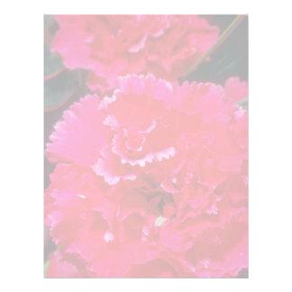 White Carnation flowers Letterhead