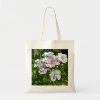 white carnation flowers tote bag