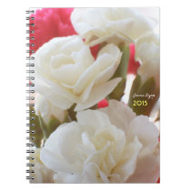 White Carnations 1b personalized Notebook