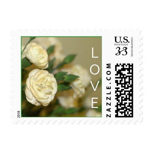 White Carnations Wedding Stamp