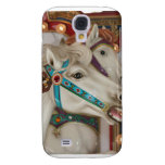 White carousel horse with blue bridle picture galaxy s4 cases