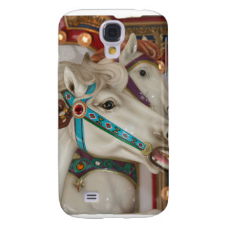 White carousel horse with blue bridle picture galaxy s4 cover
