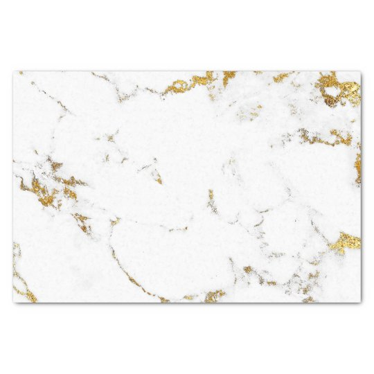55e0155505664 White Carrara Gold Stone Minimal Gray Stone Marble Tissue Paper