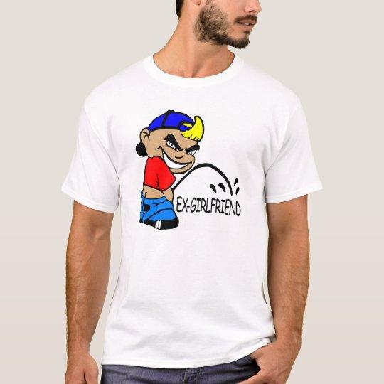 White Cartoon Boy P Ex Girlfriend T-Shirt