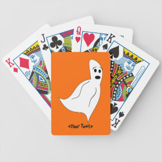White Cartoon Ghost Bicycle Playing Cards