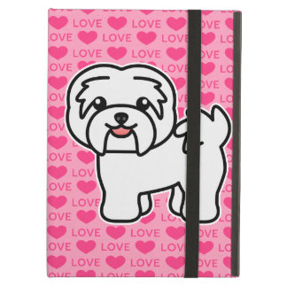 White Cartoon Havanese Love iPad Air Cover