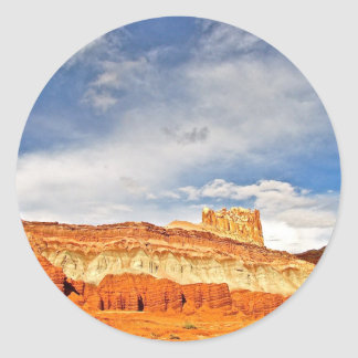 WHITE CASTLE IN CAPITOL REEF NATIONAL PARK CLASSIC ROUND STICKER