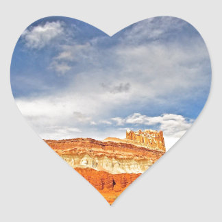 WHITE CASTLE IN CAPITOL REEF NATIONAL PARK HEART STICKER