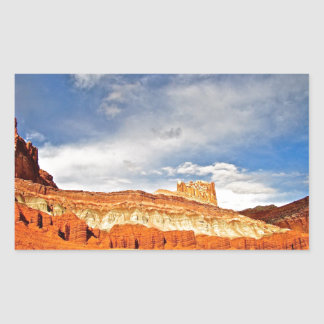 WHITE CASTLE IN CAPITOL REEF NATIONAL PARK RECTANGULAR STICKER