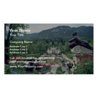 White Castle Linderhof flowers Business Card