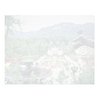 White Castle Linderhof flowers Personalized Letterhead