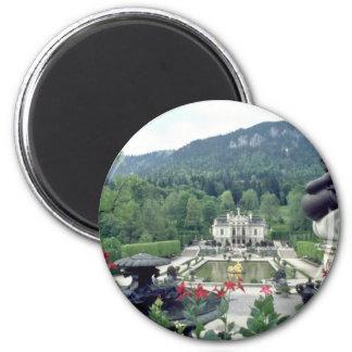 White Castle Linderhof flowers Magnet