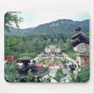 White Castle Linderhof flowers Mousepad