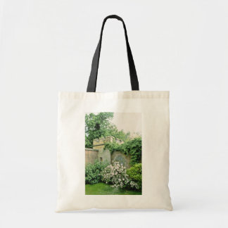 white Castle Wall With Deutzia (Japanese Snow Flow Budget Tote Bag