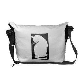 White Cat Art Nouveau Messenger Bag