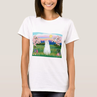 White Cat - Blossoms T-Shirt