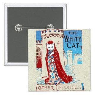 White Cat Button