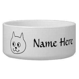 White Cat Cartoon. Bowl