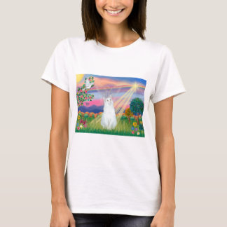White Cat - Cloud Angel T-Shirt