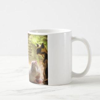 White Cat & Dalai Lama Kindness Quote Coffee Mug
