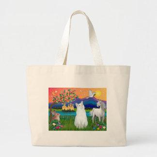 White Cat - Fantasy Land Large Tote Bag