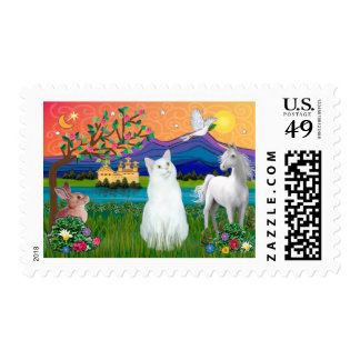 White Cat - Fantasy Land Postage