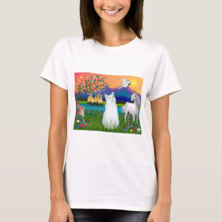 White Cat - Fantasy Land T-Shirt