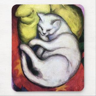 White cat, Franz Marc Mouse Pad