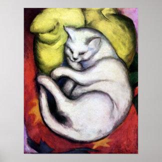 White cat, Franz Marc Poster
