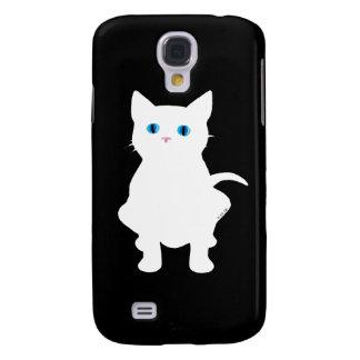White cat galaxy s4 cover