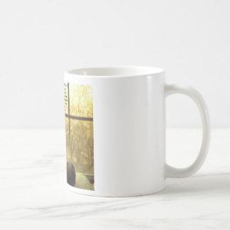 White Cat & Gandhi Compassion Quote Coffee Mug