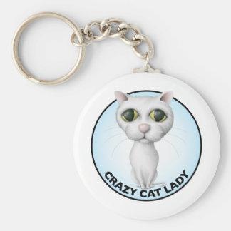 White Cat - I Love My Grandcat Keychain