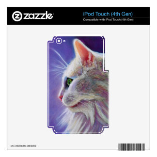 White Cat in Profile Skin For iPod Touch 4G