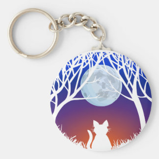 White Cat Keychain White Cat Gifts Pet Keychains