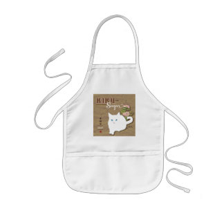 White Cat Kids' Apron