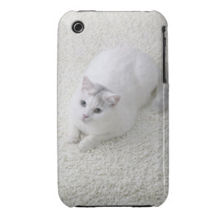 White cat looking up iPhone 3 Case-Mate cases