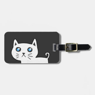 White Cat Luggage Tag
