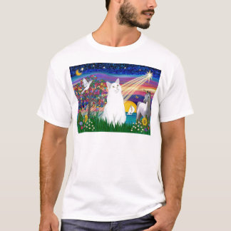 White Cat - Magical Night T-Shirt