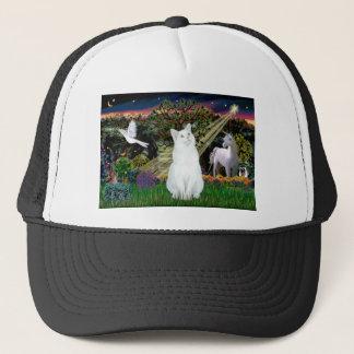 White Cat - Magical Woods Trucker Hat