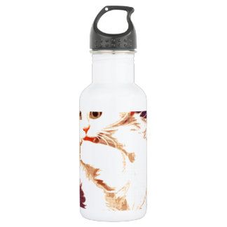 White Cat Miss Priss Stainless Steel Water Bottle
