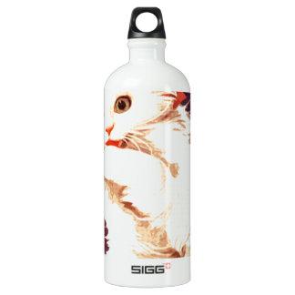 White Cat Miss Priss Water Bottle