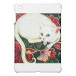 White Cat on a Cushion Case For The iPad Mini