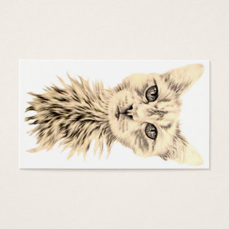 White Cat on Business Card
