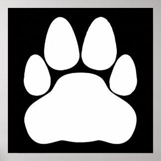 White Cat Paw Print Shape