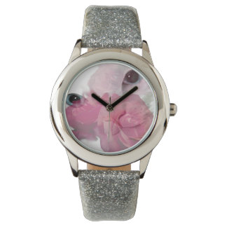 White Cat Pink Rose Watches