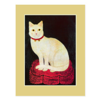 White Cat Post Card