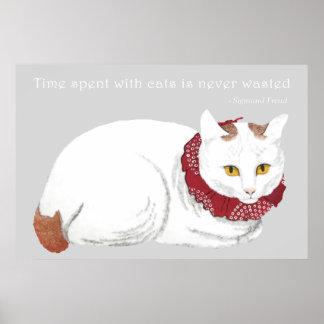 White Cat Poster Print