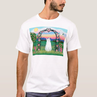 White Cat - Rose Arbor T-Shirt